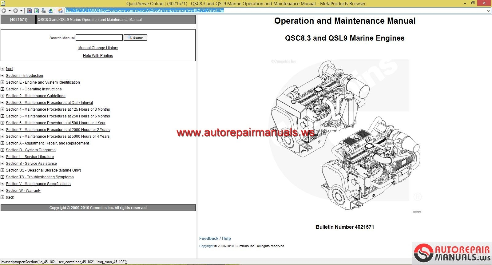 Cummins Qsc8 3 And Qsl9 Service Manual