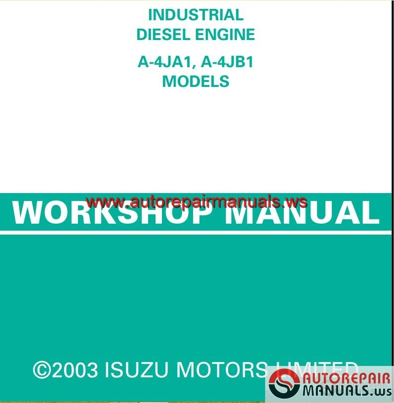 Isuzu 6sd1 Truck Service Manual