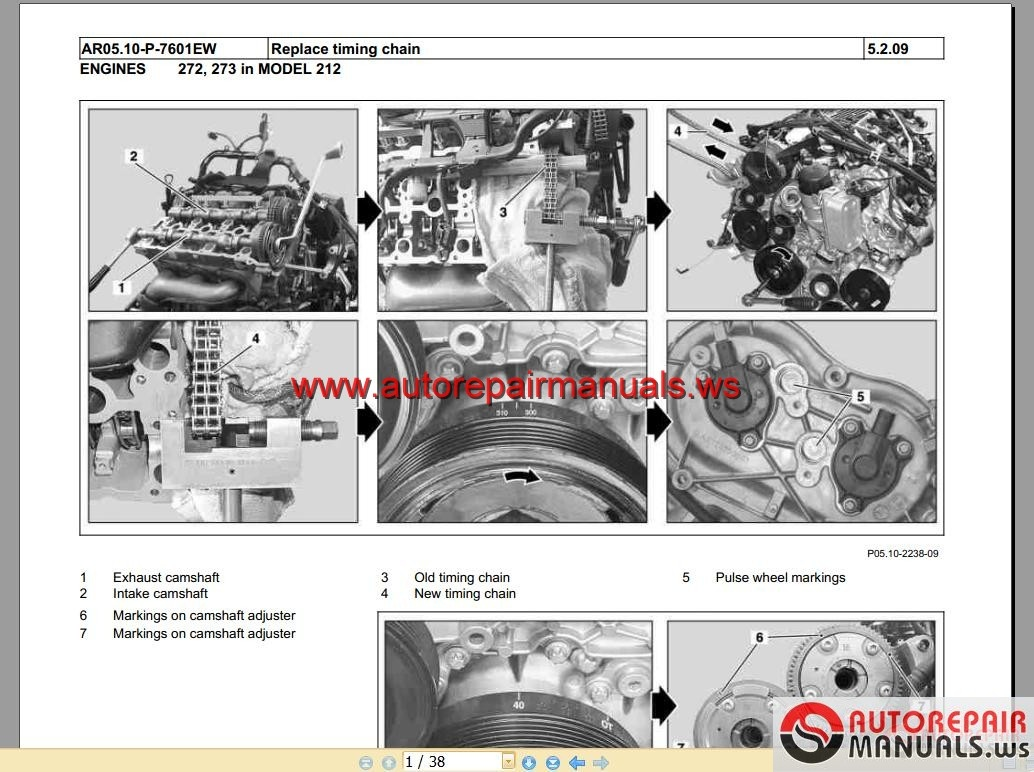 Mercedes M272 and M273 Engine Repair Replacing timing chain 2015