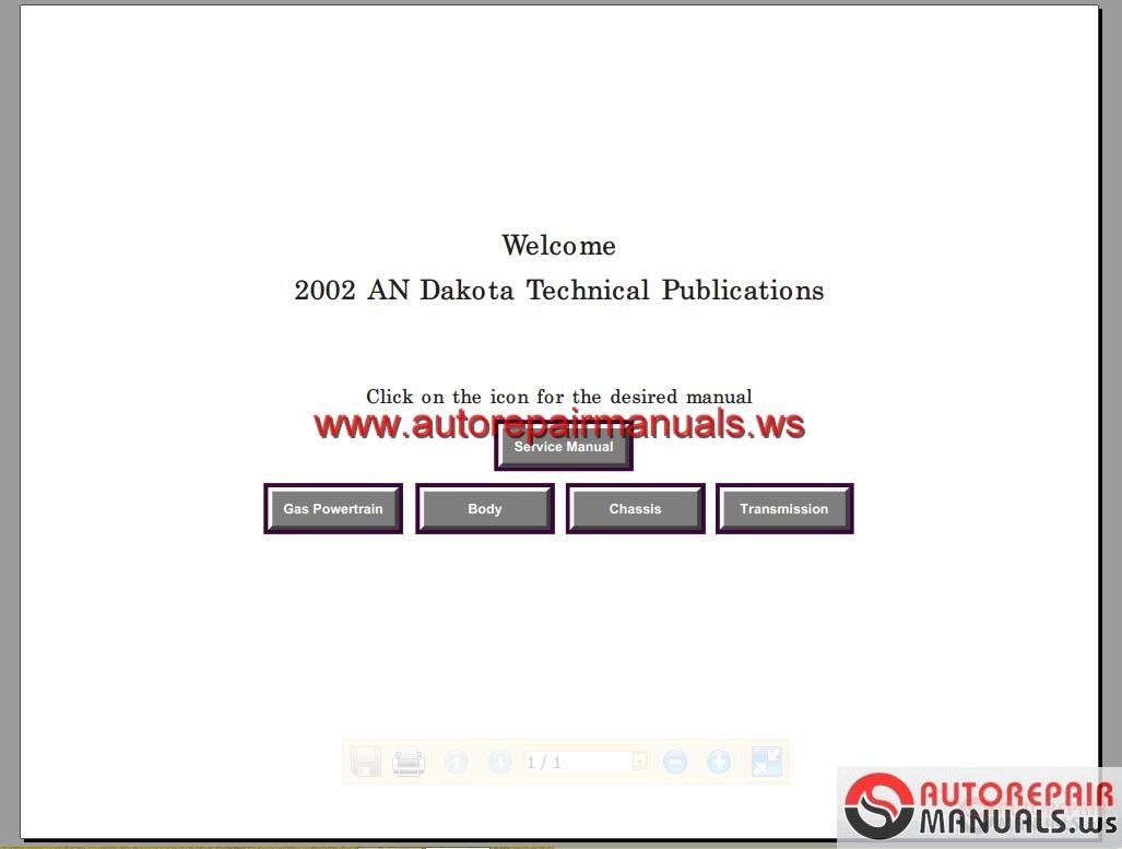 Chrysler Jeep Dodge 2002 Repair Manual Auto Repair border=