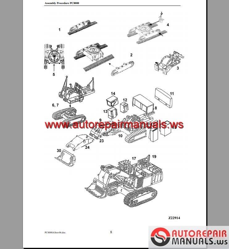 keygen autorepairmanuals ws general assembly procedure hydraulic general assembly procedure hydraulic mining shovel pc8000