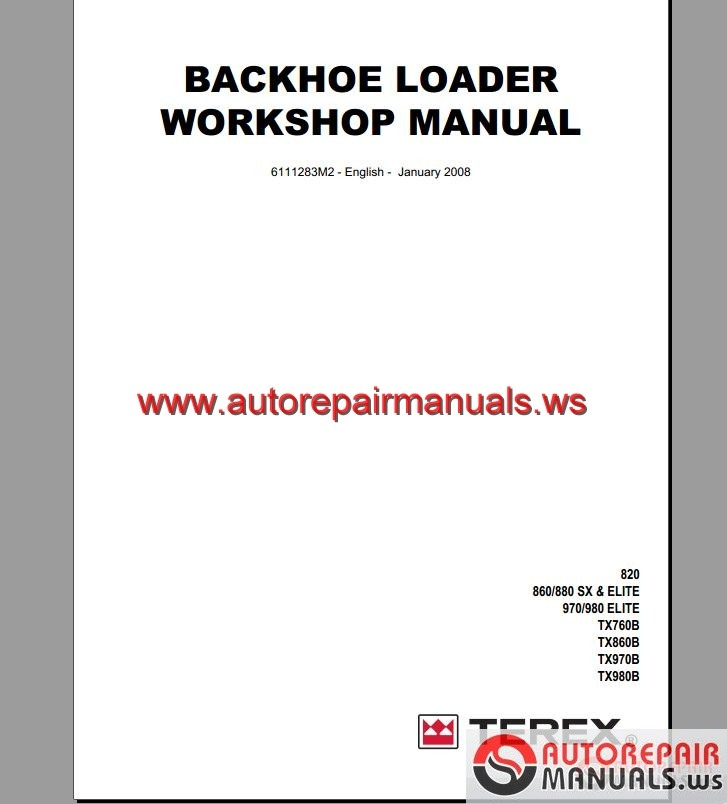 terex 760 service manual online user manual u2022 rh pandadigital co Terex 860 Fermec 860Sb