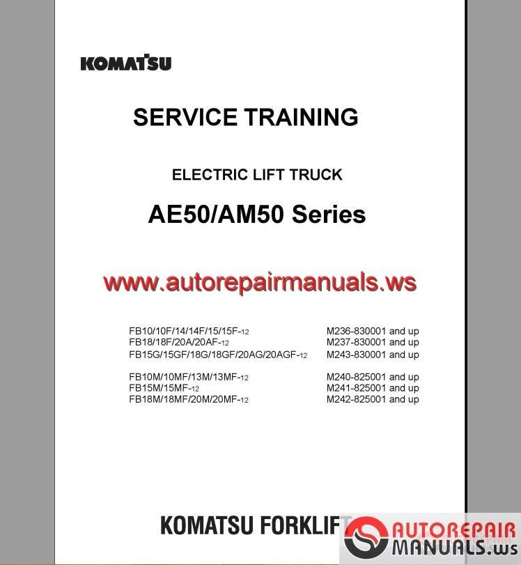 komatsu forklift service manual pdf