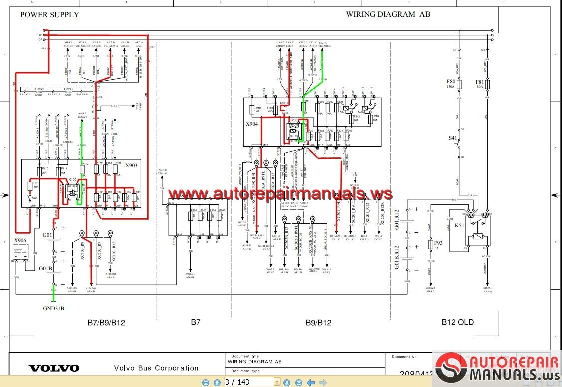 Volvo Bus B7 B9 B12 Wiring Diagram Auto Repair Manual
