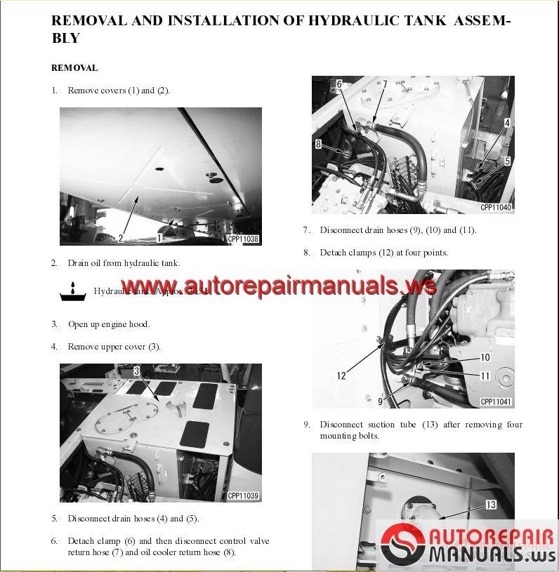 komatsu pc340 7 service training auto repair manual. Black Bedroom Furniture Sets. Home Design Ideas