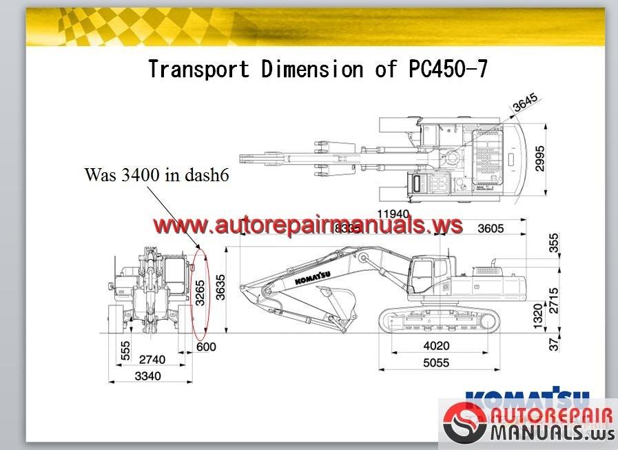 komatsu pc450 7 service training auto repair manual. Black Bedroom Furniture Sets. Home Design Ideas