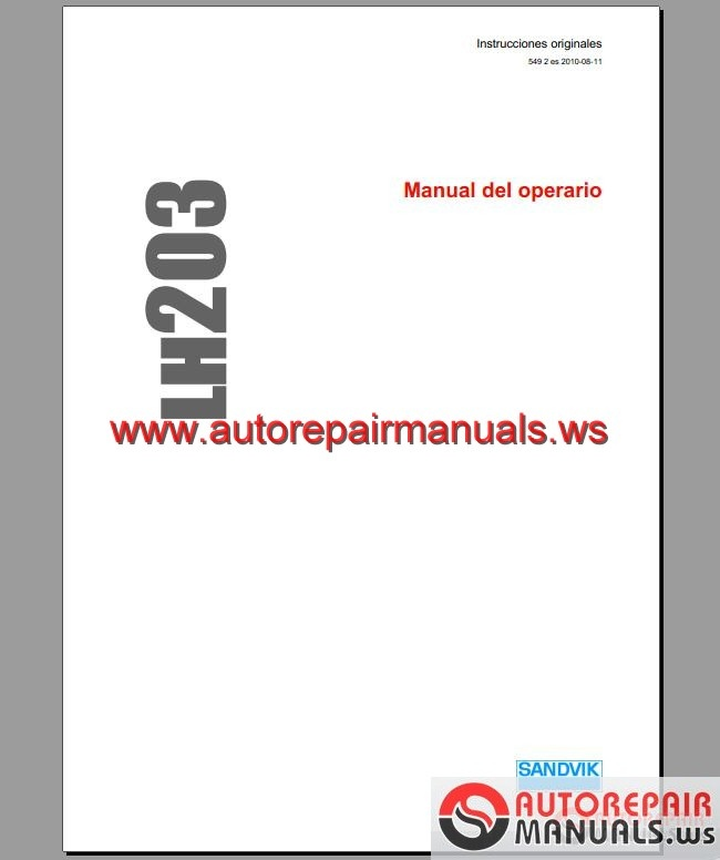 SANDVIK LH203 Manual | Auto Repair Manual Forum - Heavy Equipment