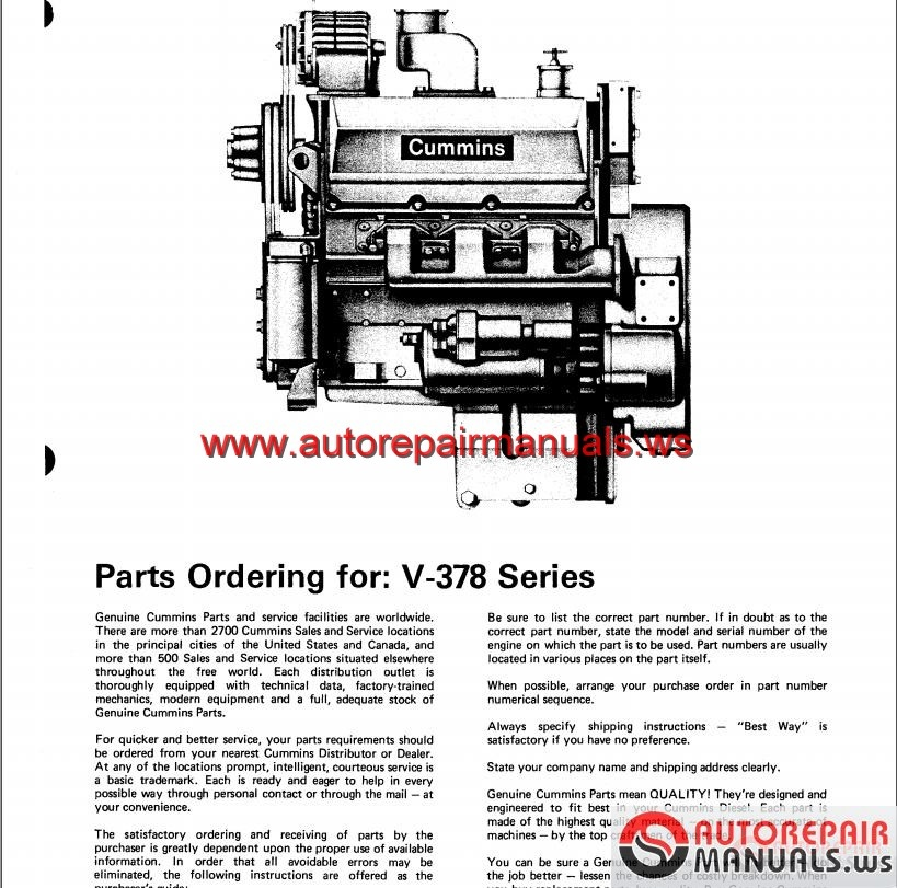 cummins v378 part manual