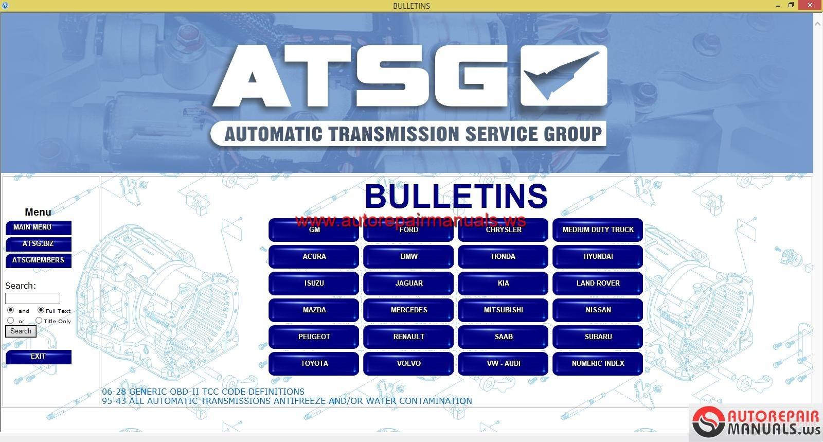 Atsg transmission manuals download.