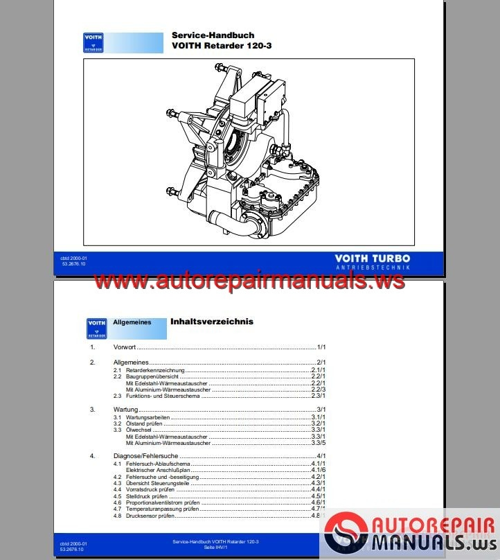 Voith Retarder R 120 3 Service Manual Auto Repair Manual