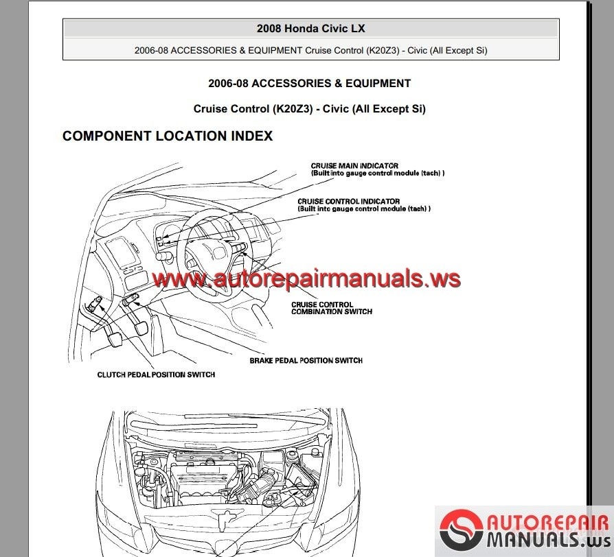 honda civic hybrid 2006-2008 service manual