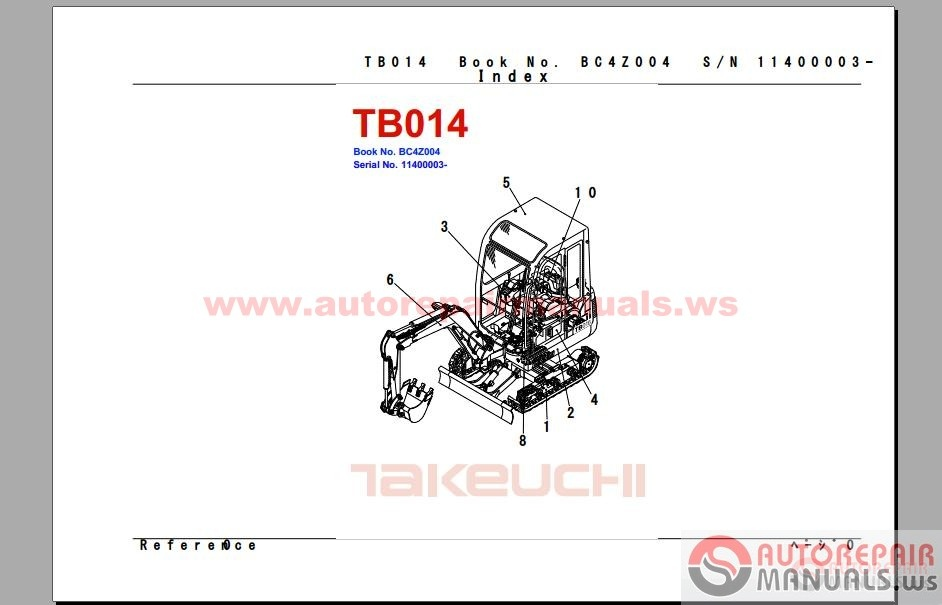 takeuchi parts manual auto repair manual forum. Black Bedroom Furniture Sets. Home Design Ideas