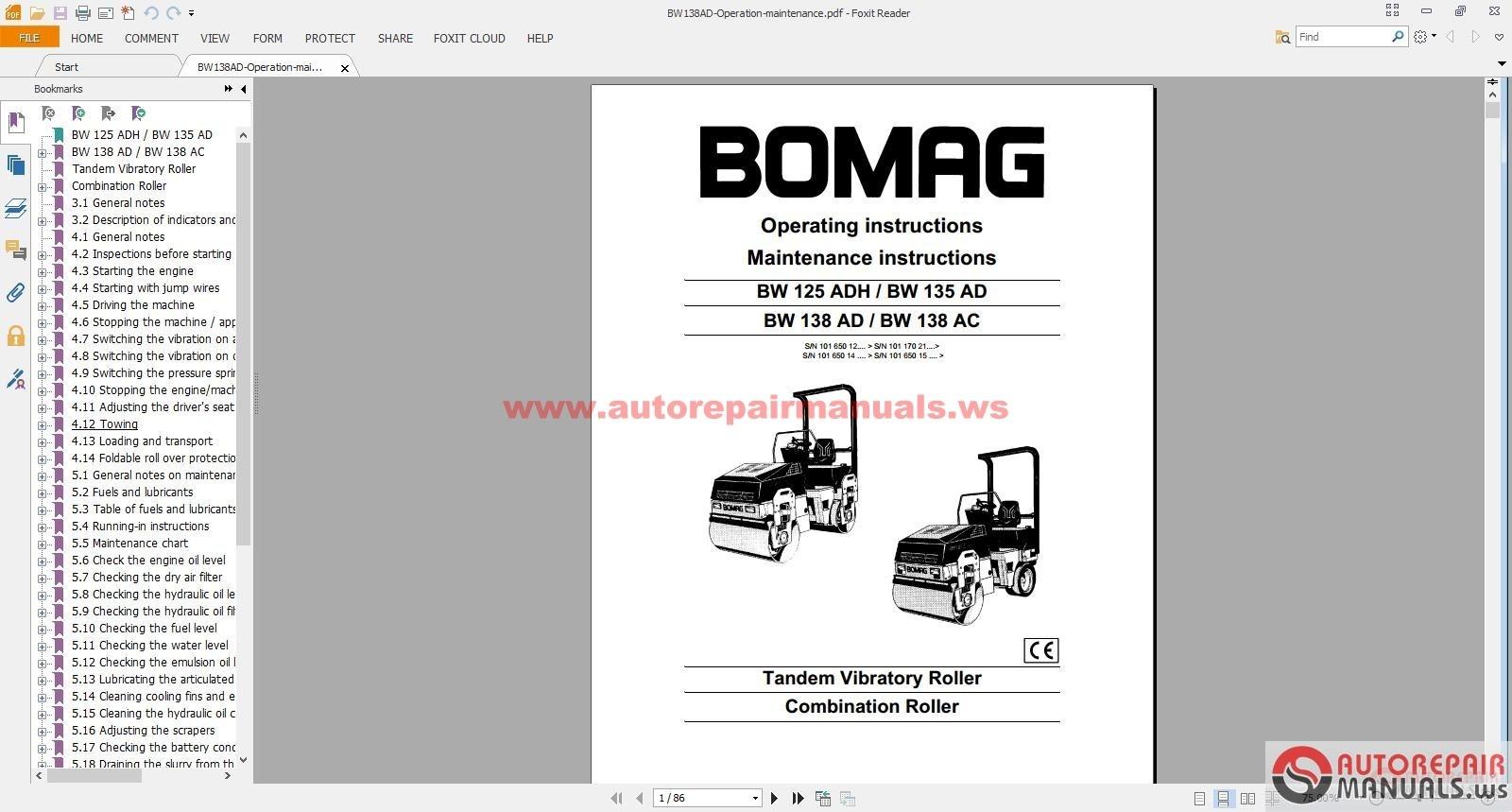 bomag full set service manuals service trainning auto repair rh autorepairmanuals ws bomag bmp851 wiring diagram bomag bmp851 wiring diagram