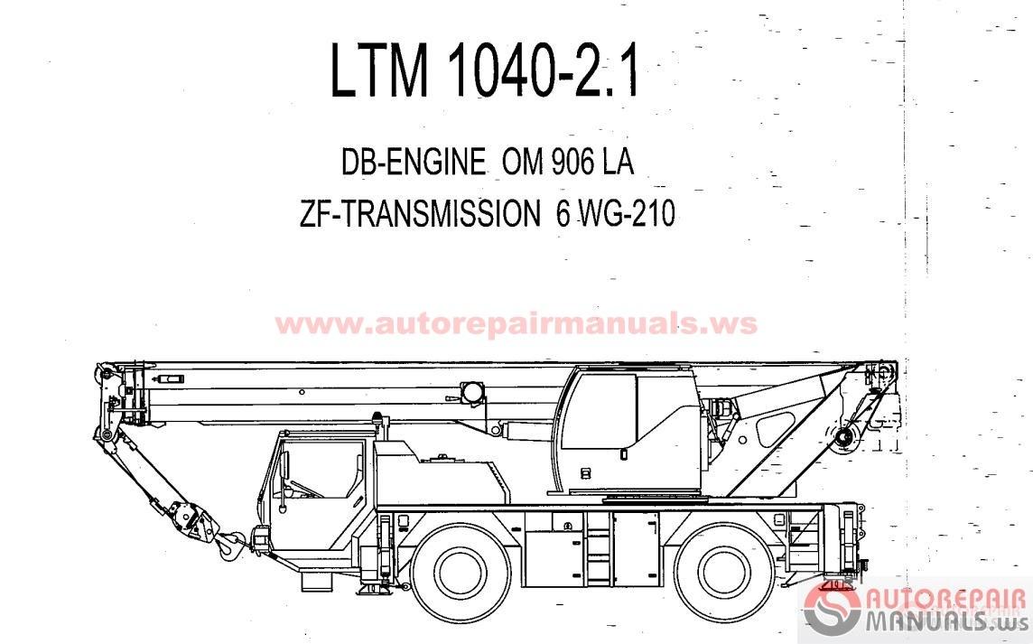 Liebherr Crane Service Manual, Maintenance Manual, Operating