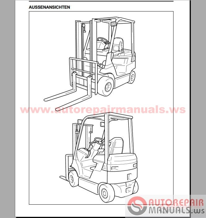 auto repair manuals  toyota forklift  industrial equipment