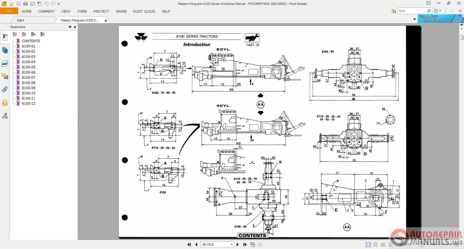 Massey Ferguson Service Complete Tractor Workshop Manual on Massey Ferguson Tractor Parts Diagram