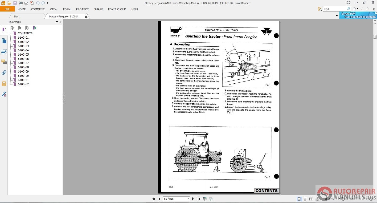 Massey Ferguson Service Complete Tractor Workshop Manual on Massey Ferguson Parts Catalog