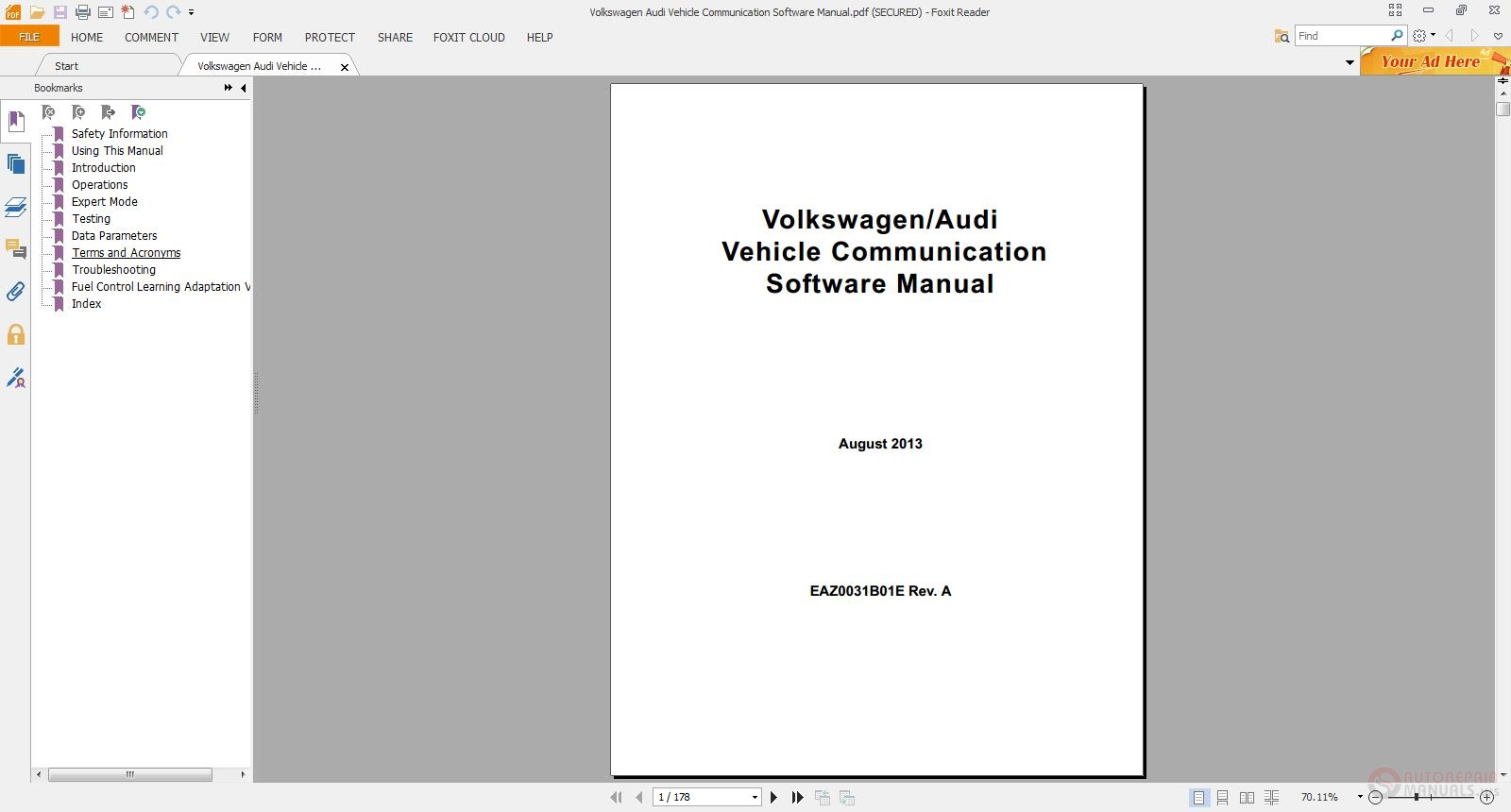 Volkswagen Audi Vehicle Communication Software Manual on 2000 Volvo S80 Repair Manual