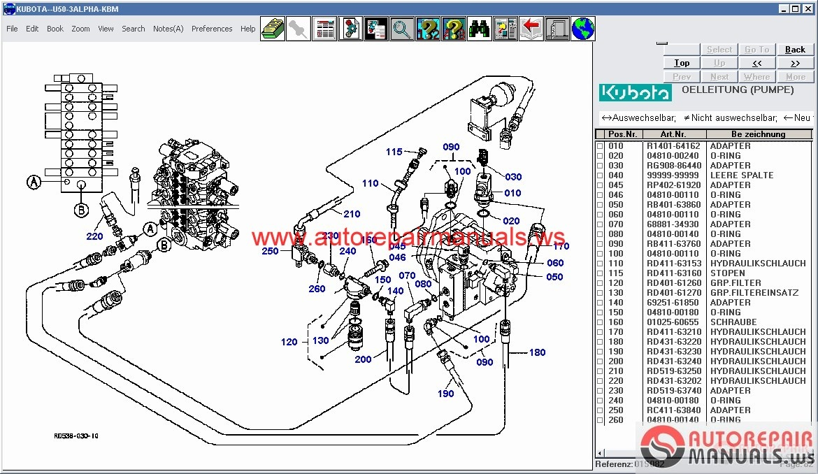 kubota tractors construction utility vehicle spare parts catalog rh autorepairmanuals ws Kubota Alternator Wiring Kubota Schematics