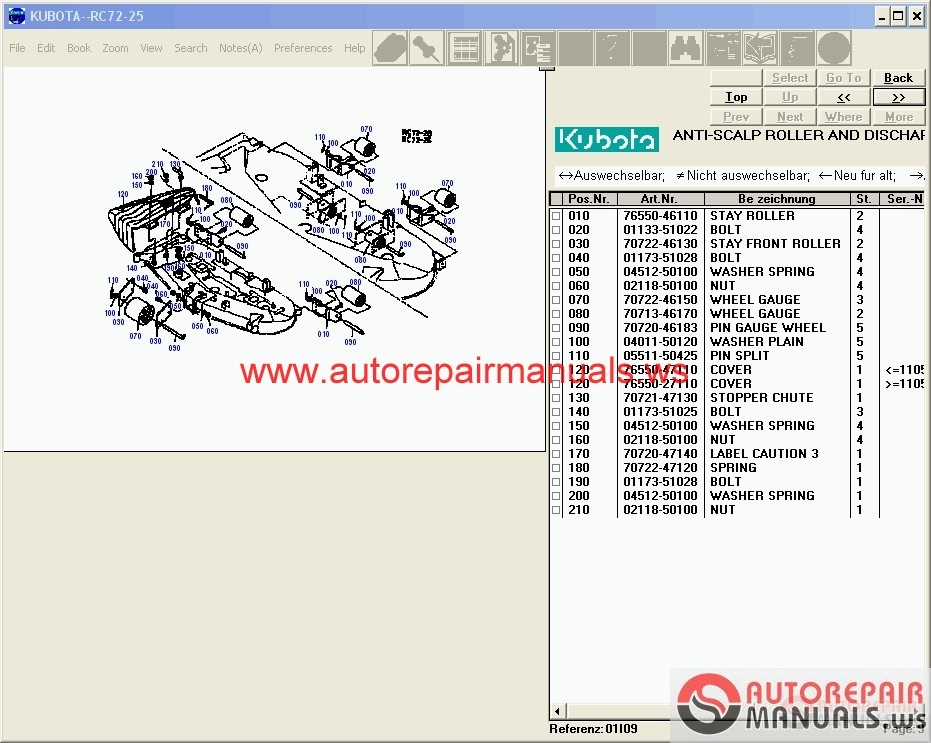 kubota tractors construction utility vehicle spare parts catalog rh autorepairmanuals ws Kubota Alternator Wiring Diagram Kubota Schematics