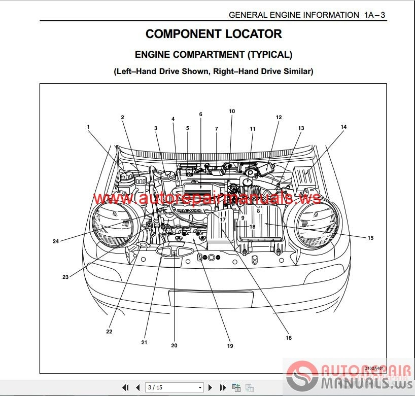 Daewoo matiz service manual auto repair