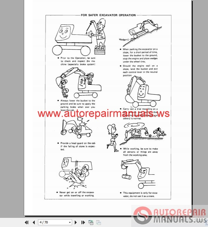 deawoo doosan dh130w operation manual with wirings