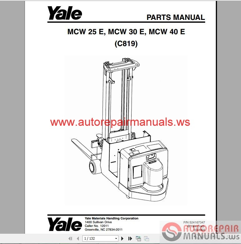 auto repair manuals  yale forklift full set pdf  parts