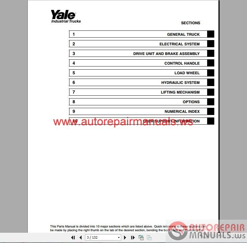 Yale Forklift full set PDF (Parts & Manuals) | Auto Repair