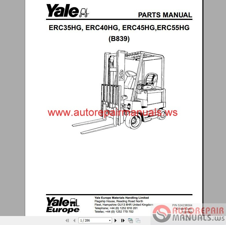Yale forklift full set pdf parts manuals auto repair manual img swarovskicordoba Choice Image