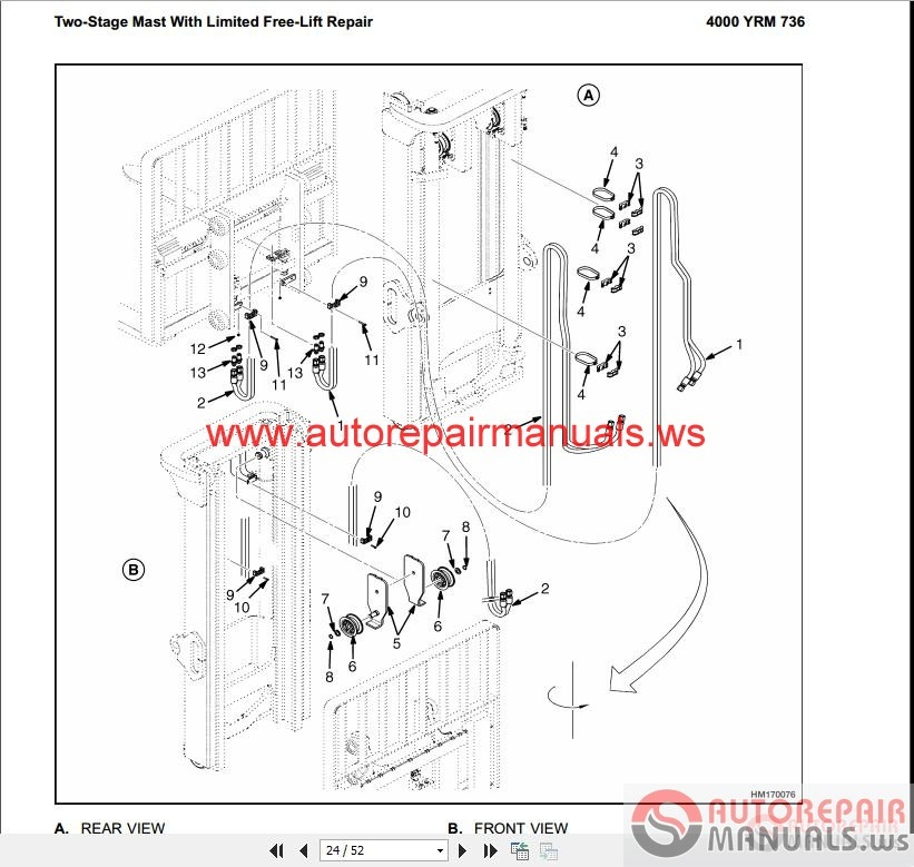 Yale_Forklift_full_set_PDF_Parts_Manuals6 yale forklift full set pdf (parts & manuals) auto repair manual yale forklift wiring diagram at crackthecode.co