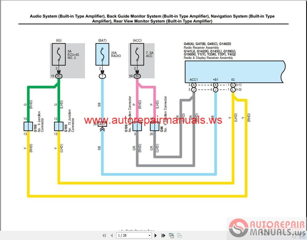 toyota rav4 wiring bundle wire center u2022 rh 107 191 48 154 Toyota Camry Radio Wiring Diagram Toyota Camry Radio Wiring Diagram