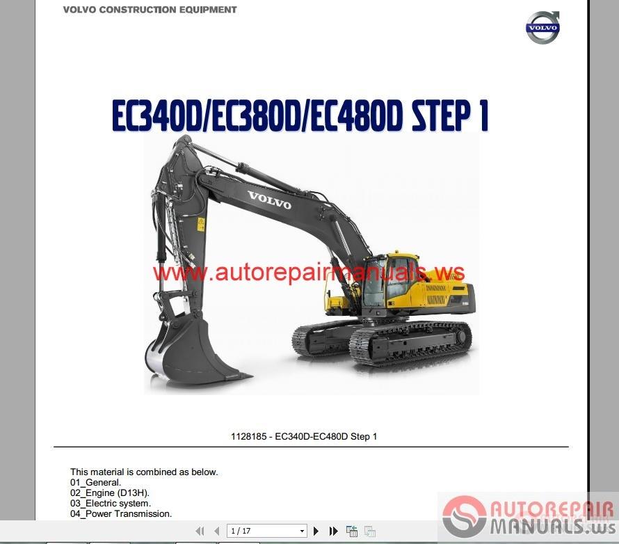 Volvo Excavator EC340D,EC380D,EC480D Service Training | Auto Repair Manual Forum - Heavy ...