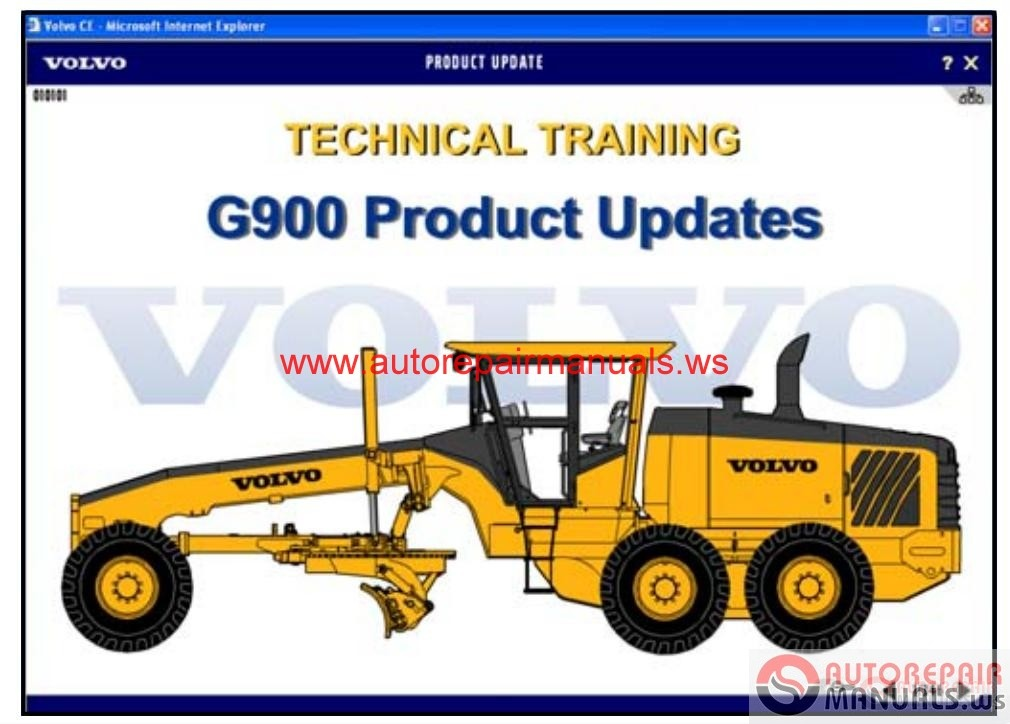 Auto Repair Manuals Volvo Motor Grader G900 Technical