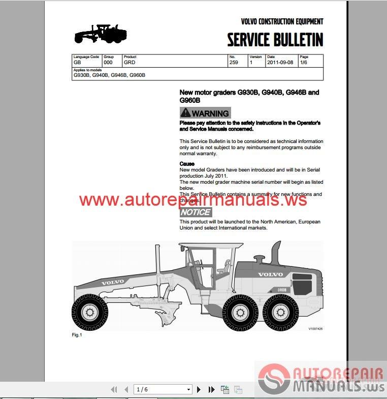 Auto repair manuals volvo motor grader step 1 technical for Doc motor works auto repair