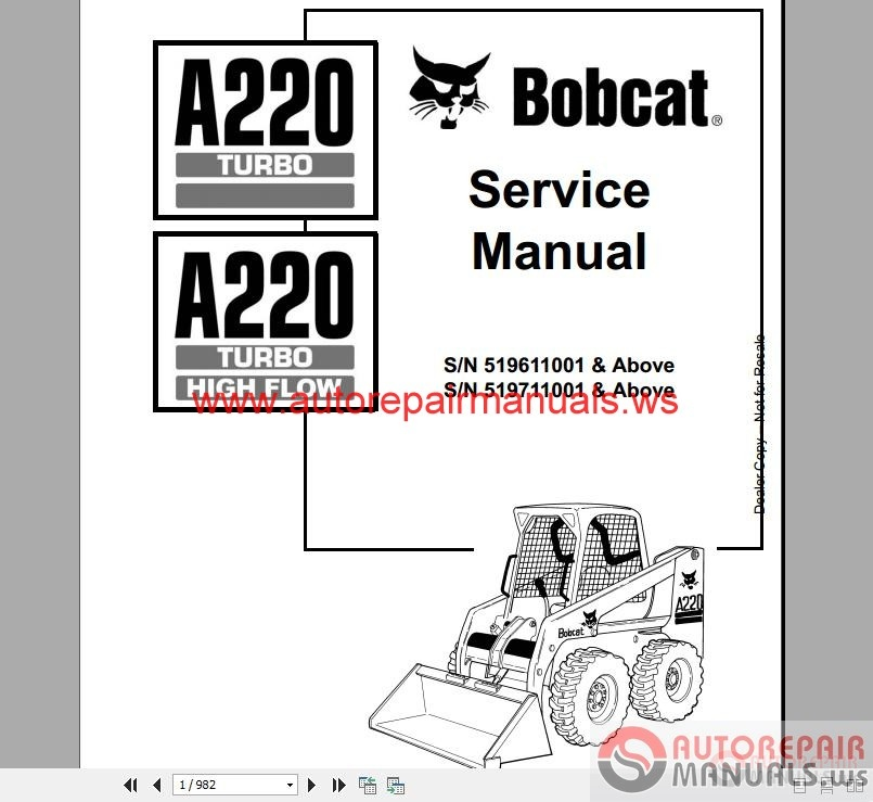 bobcat t190 parts manual online
