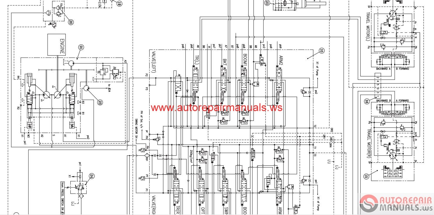 auto repair manuals  doosan all schematics hydraulic
