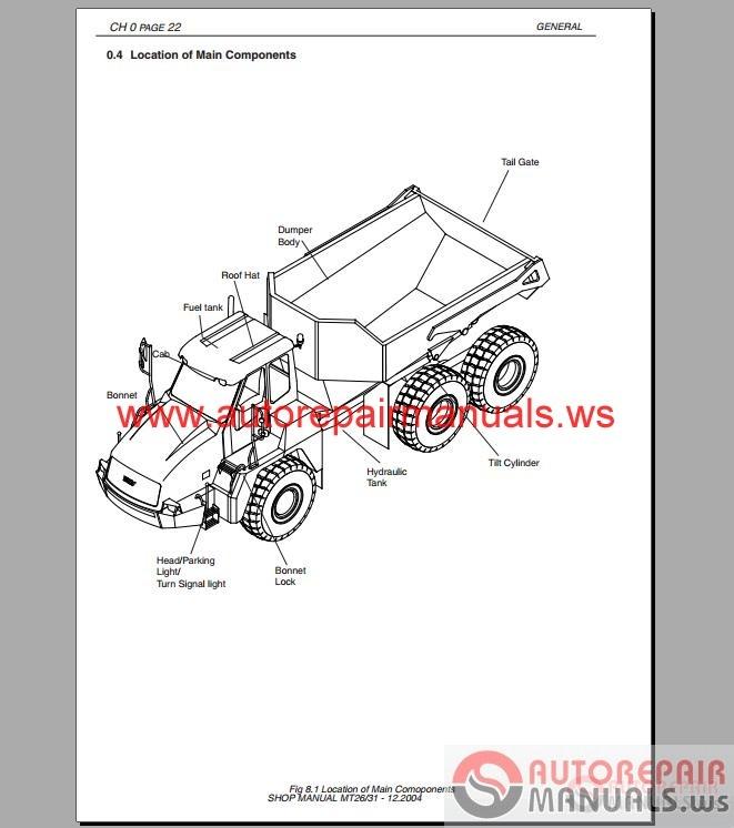doosan dump truck mt25 shop manual