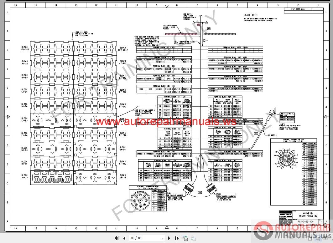 Kenworth Truck W900 T800    T600    C5 Electrical Schematic