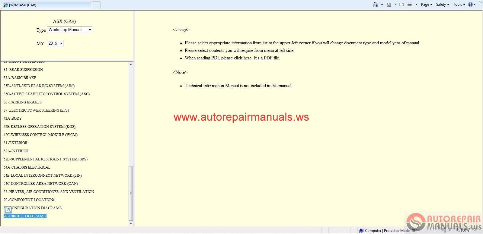 Repair Manual Pdf Mitsubishi Asx Toyota Mr2 Power Steering Wiring Diagram Forklift Schematic Get Free Image About