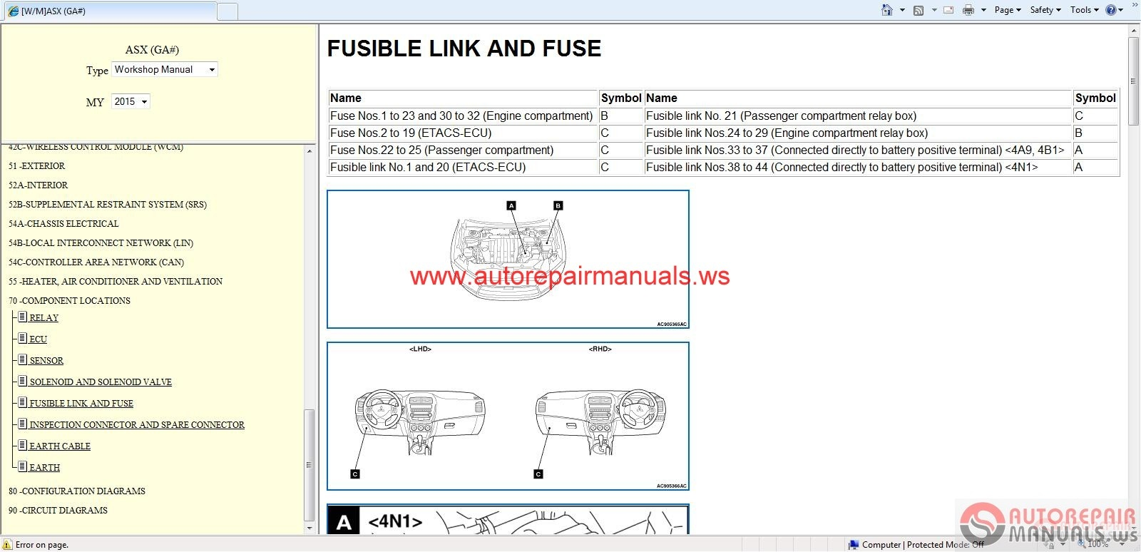 Mitsubishi ASX 2015 Service Manual CD Auto Repair Manual