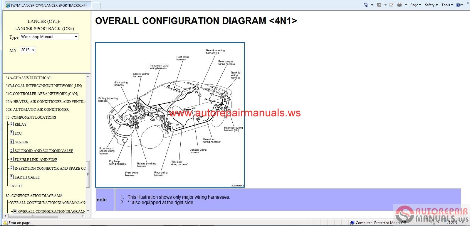 Mitsubishi Lancer And Lancer Sportback Service Manual Cd on Mitsubishi Lancer Engine Diagram