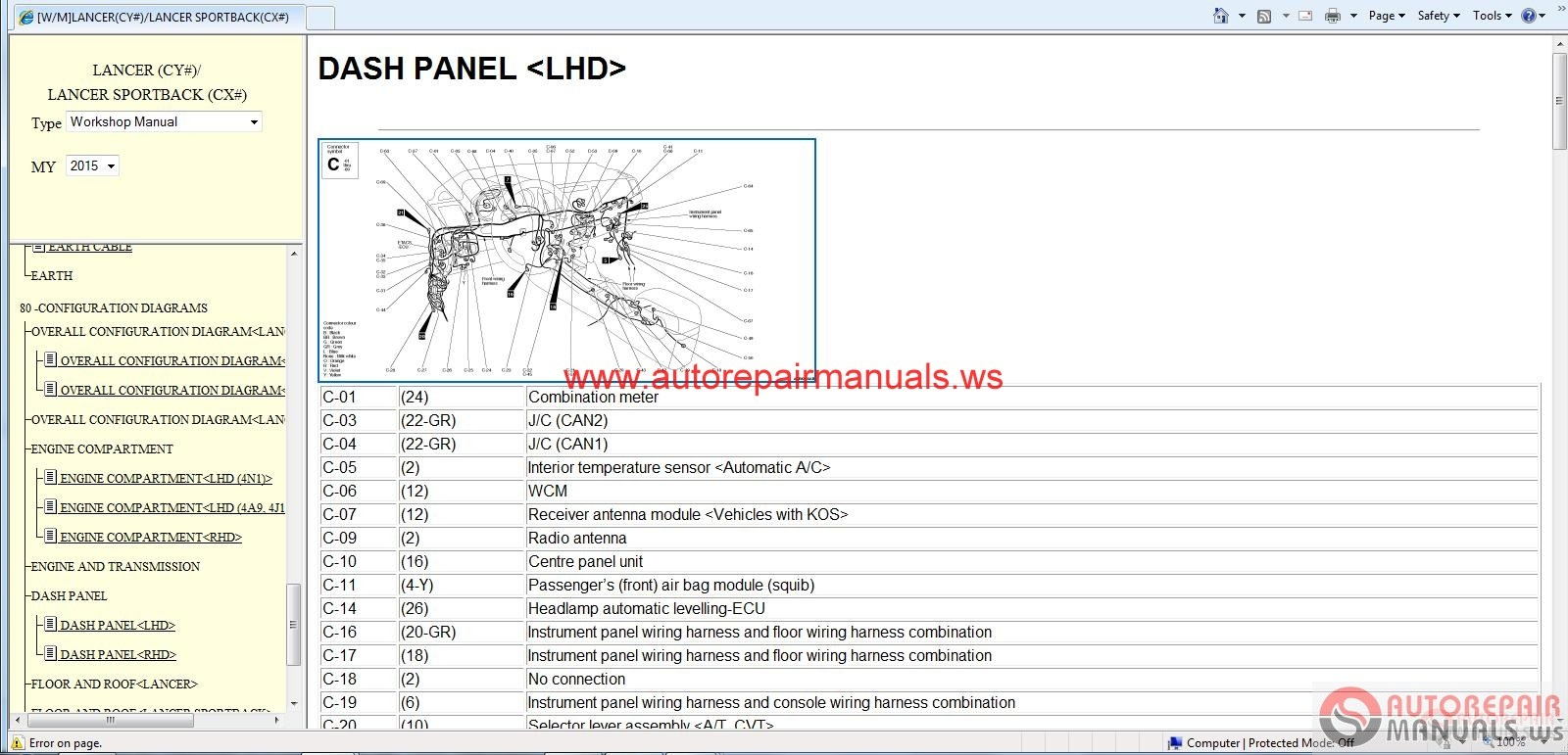 Mitsubishi Grandis Wiring Diagram Guide And Troubleshooting Of Lancer 2015 Sportback Service 4m40 Engine Timing 2 0