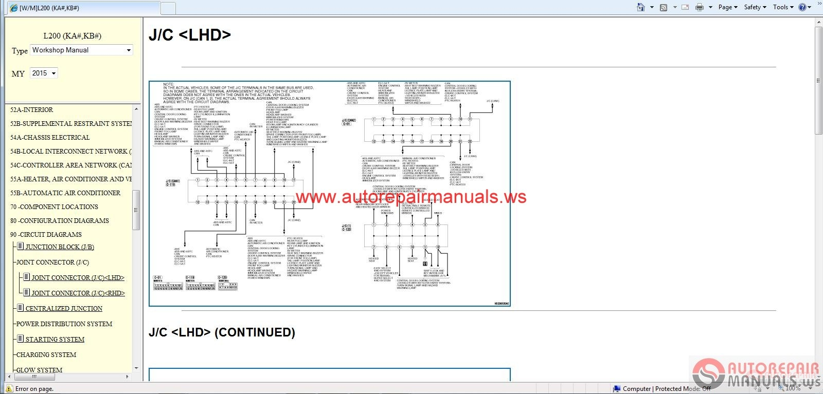 Mitsubishi L200 2015 Service Manual Cd Triton on mitsubishi lancer radio wiring diagram