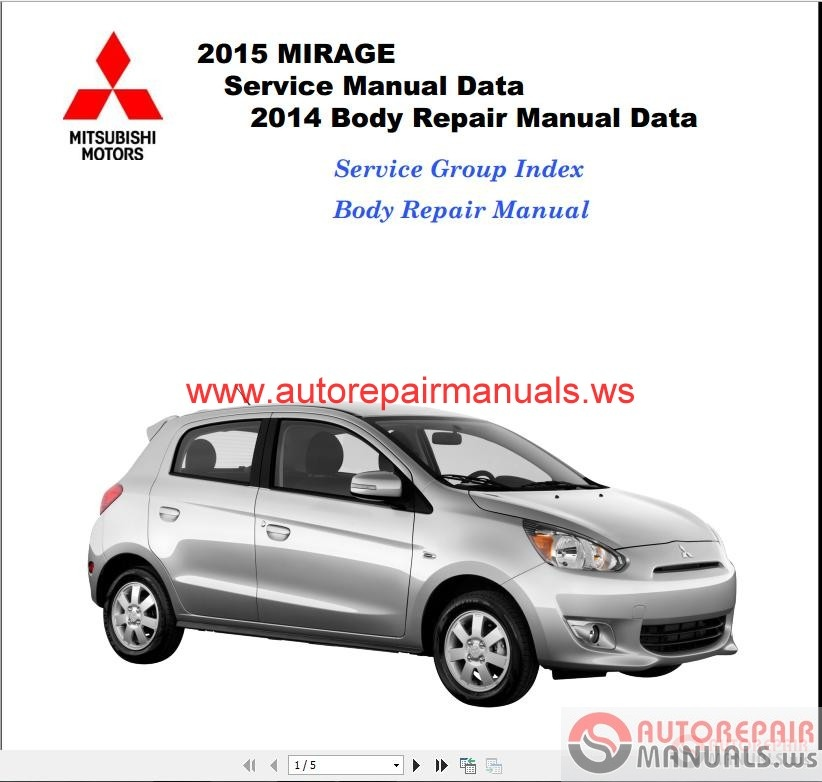 mitsubishi mirage owners manual 2015
