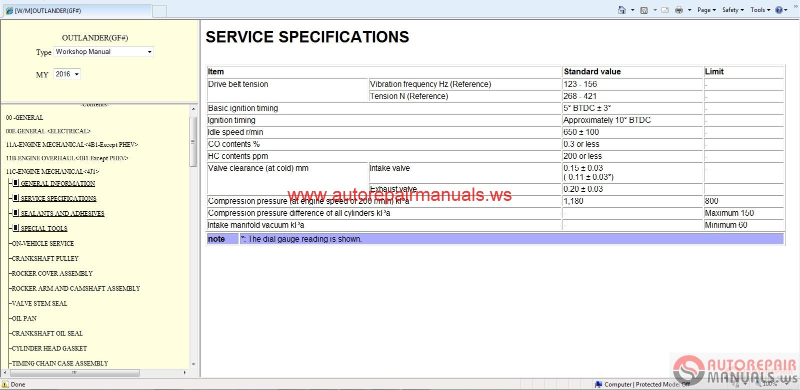 Mitsubishi Outlander Eur 2016 Service Manual Cd