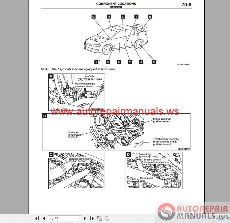 mitsubishi lancer evolution x wiring diagrams auto repair