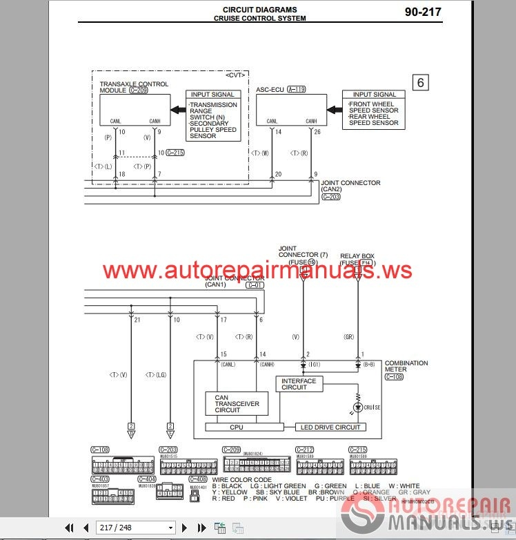 mitsubishi mirage 2015 wiring diagrams