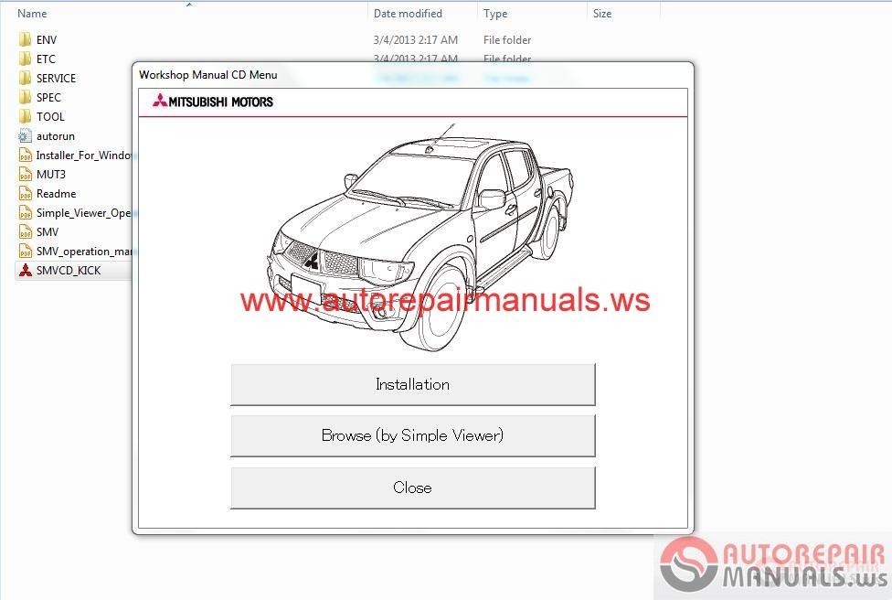 Mitsubishi L200 2013 Workshop Manual