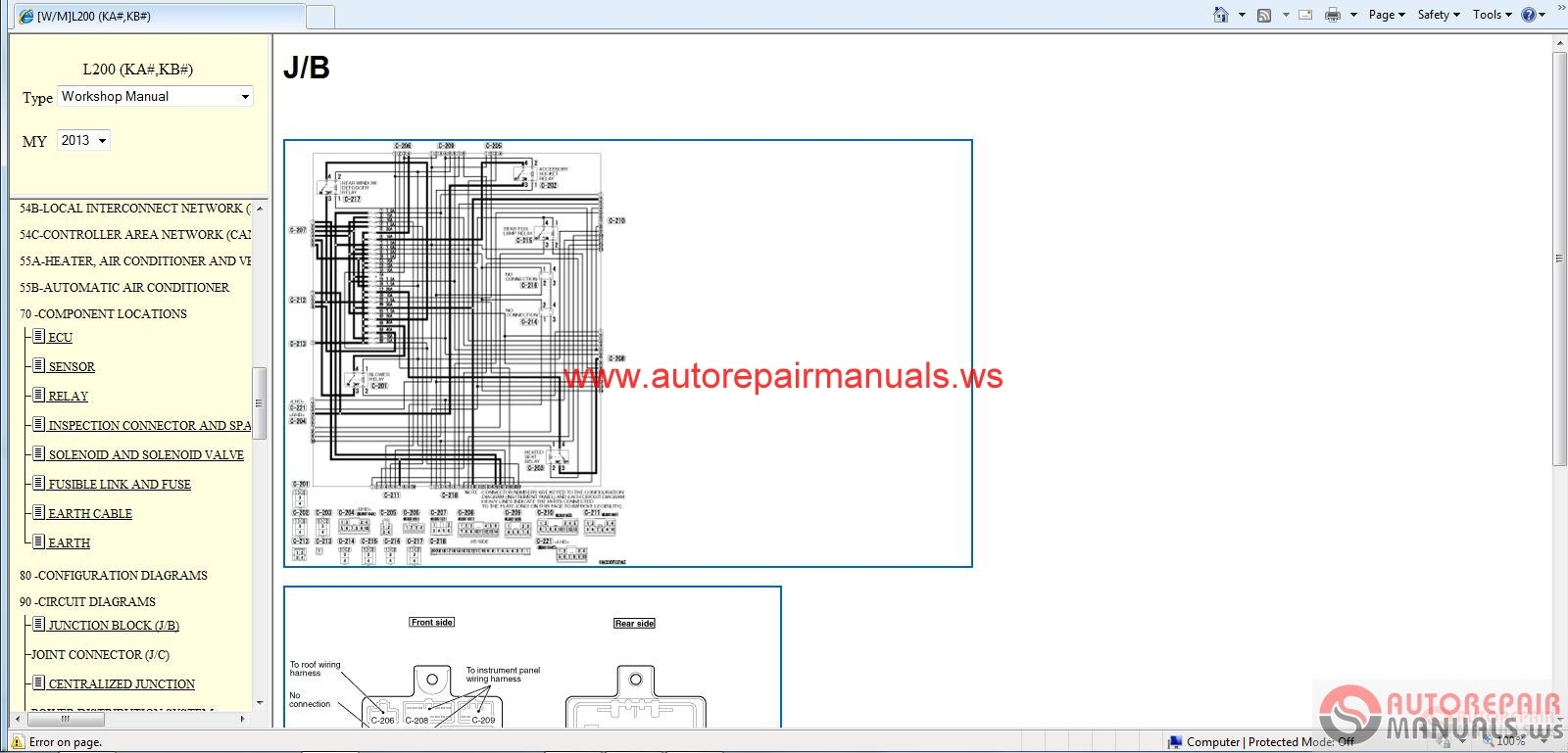 Mitsubishi L200 2013 Workshop Manual
