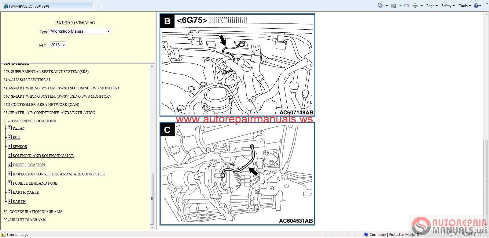Mitsubishi_Pajero_2013_Service_Manual4 mitsubishi pajero 2013 service manual auto repair manual forum pajero automatic transmission wiring diagram at alyssarenee.co